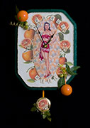 Thumbnail: Kitch Art Clock - Orange Peel